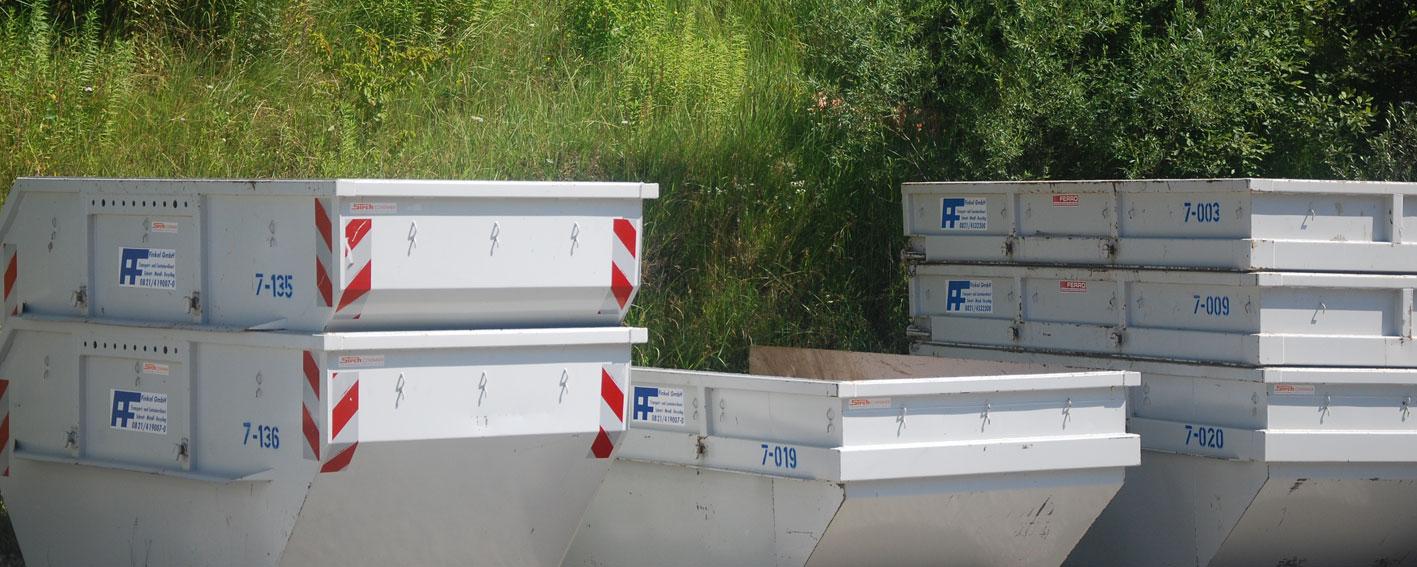 Verschiedene Containerarten zum Anmieten bei der Finkel GmbH in Hirblingen bei Gersthofen
