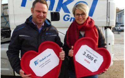 DKMS – 3.500 Euro von der Finkel GmbH