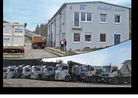 Firmengebäude und Fuhrpark der Finkel GmbH
